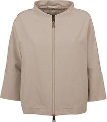beige technical fabric jacket