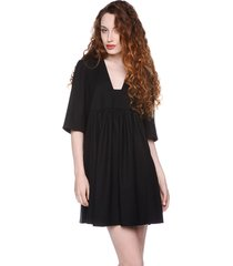 sukienka z prostokątnym dekoltem czarna