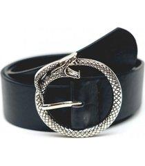 cinturon hebilla de serpiente negro guinda