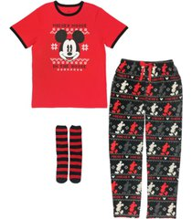 the mickey mouse men's 3 pieces pajama set, online only