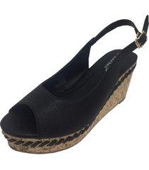 sandalia negra todopiel