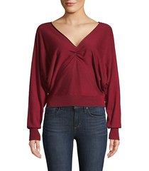 v-neck cotton & cashmere-blend sweater