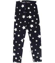 monnalisa blue cotton star-print leggings