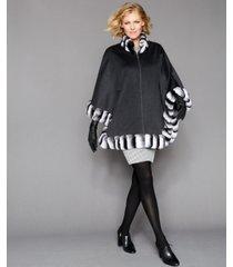the fur vault rabbit-fur-trim cape