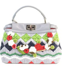 borsa donna a mano shopping in pelle mini peekaboo