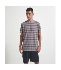 pijama curto listrado | viko | cinza | p