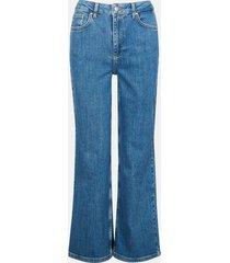 high waist wide jeans - blå