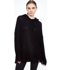 vassar hoodie sweater - s black