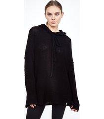 vassar hoodie sweater - xs black
