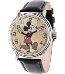 disney mickey mouse men's antique silver vintage alloy watch