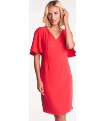 czerwona sukienka wizytowa