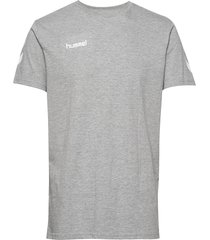 hmlgo cotton t-shirt s/s t-shirts short-sleeved grå hummel