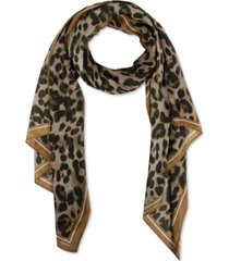 rebecca minkoff leopard-print long scarf