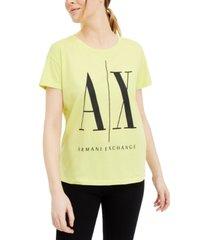 ax armani exchange cotton logo t-shirt