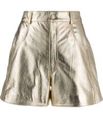 manokhi jett shorts - gold