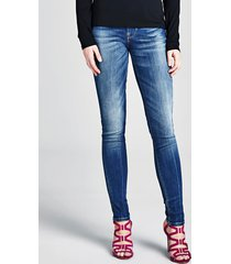 jeansy model slim z pięcioma kieszeniami