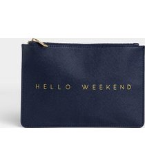 hello weekend pouch - navy