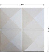 4 / 12pcs panel de pared 3d pared de la decoración del papel pintado de techo azulejos salón etiqueta - d023-1