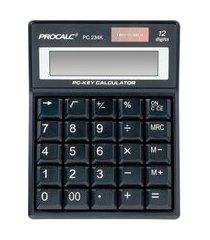 calculadora de mesa procalc pc234k 12 dígitos solar preto