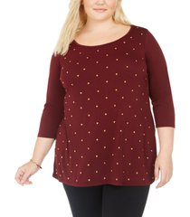 belldini plus size studded top