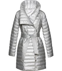 cappotto corto trapuntato lucido (argento) - bpc selection premium