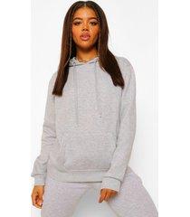 basic overhead hoodie, grey marl