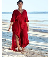 sarasota split sleeve wrap maxi dress
