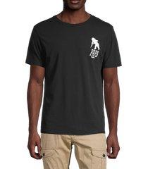 prps men's logo cotton t-shirt - black - size l