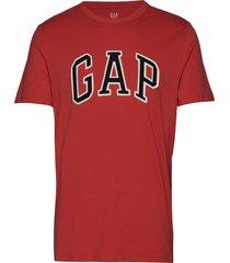 logo crewneck t-shirt t-shirts short-sleeved röd gap