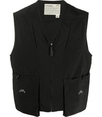 a-cold-wall* casual zipped gilet - black