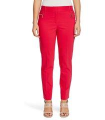 women's chaus dena zipper pocket stretch cotton blend trousers