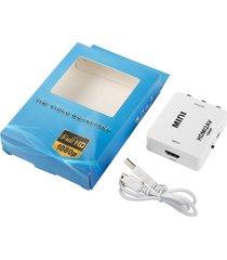 alta capacidad de ancho de banda adaptador hdmi a av hdmi2av 1080p hd video converter