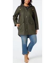 levi's trendy plus size coated hooded parka jacket