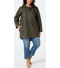 levi's trendy plus size hooded rain parka jacket