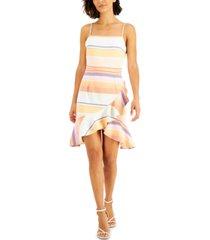 bar iii samba striped ruffled dress, created for macy's