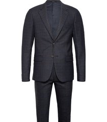 bs martin slim, suit set pak blauw bruun & stengade