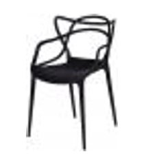 conjunto 4 cadeiras sala de jantar 54x43x83,5cm preto