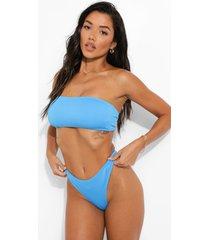 geribbeld cheeky brazilian bikini broekje, blue