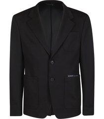 givenchy black cotton blazer