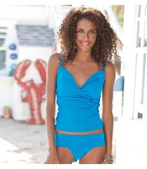 wrap & roll tankini top