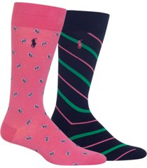 polo ralph lauren men's 2-pk. paisley socks