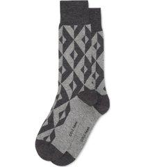 cole haan men's geo patterned dress socks