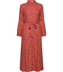 brendacr dress knälång klänning röd cream