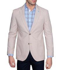 tailorbyrd men's standard-fit cotton dobby jacket - khaki - size 38 r