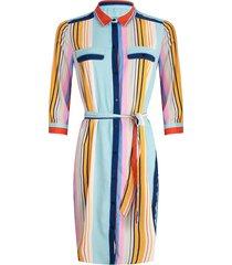 esqualo jurk striped aqua blauw