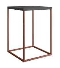 mesa para sala de estar artesano cube g 58cm manhattan