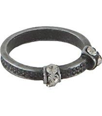 anel armazem rr bijoux falange cristais grafite