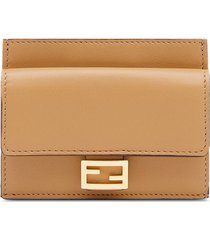 fendi cc case flat wallet - brown