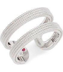 18k white gold & ruby midi ring