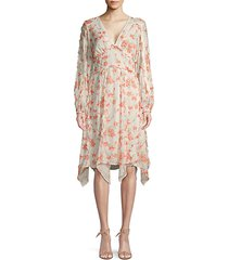 spring foliage print dress